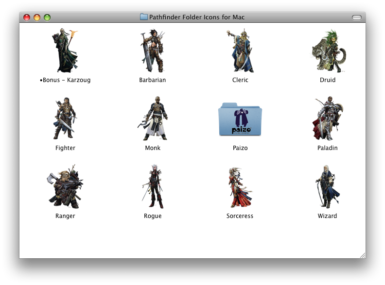 Dungeons and Digressions: Folder Icons: Pathfinder, LL, and S&W